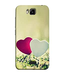 PrintVisa Designer Back Case Cover for Huawei Honor Bee (cute awesome hearts in garden)