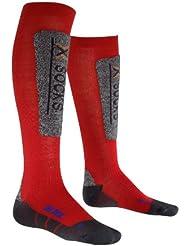 X-Socks X - Socks Ski Discovery - Calcetines infantil, tamaño 35 - 38, color rojo / gris oscuro