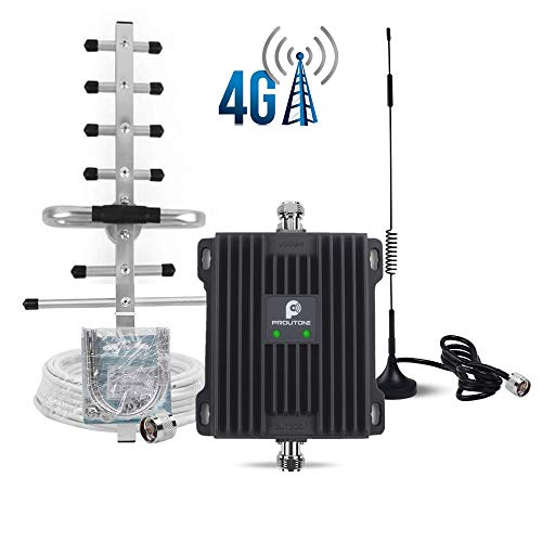 Proutone Amplificatori di Segnale cellulare 4G LTE 800/2600MHz Ripetitore con Omni/Yagi Antenna Kit per usare Casa/Ufficio