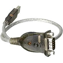 iogear USB to Serial RS-232 Adapter - Adaptador para cable (RS-232, USB, Macho/Macho, Gris, De plástico, 0,4m)