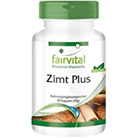 Zimt Plus - GROSSPACKUNG für 3 Monate - VEGAN - HOCHDOSIERT - 90 Kapseln - Zimt-Extrakt mit Chrom und Zink preisvergleich bei billige-tabletten.eu