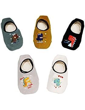 JT-Amigo Calcetines Antideslizantes para Bebés Niños (Pack de 5 Pares)