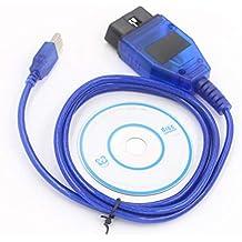 Ocamo 1M VAG COM KKL 409.1 OBD2 K-Line KWP2000 ISO9141 Cable USB para VW