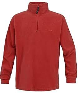 Trespass Men's Lap 1/2 Zip Fleece - Red, XX-Small