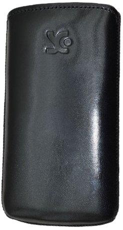 Original Suncase Echt Ledertasche für Samsung S8600 Wave 3 in schwarz
