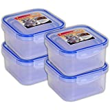 Zadoli Milan 300 ml,600 ml and 1200 ml Square food Container Set of 12