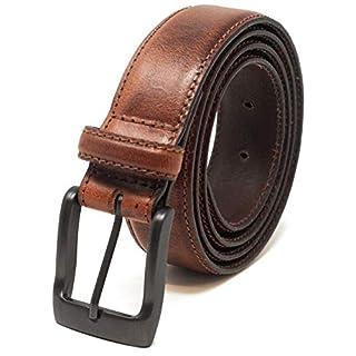 Ashford Ridge Mens 32mm Full Leather Suit Trouser Belt - Tan XL (40