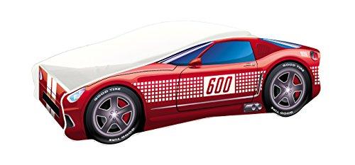 Kinderbett Autobett Auto Junior mit Lattenrost und Matratze 140x70 160x80 180x80 ACMA (160x80, 1)