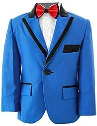 Niños Royal traje azul, Slim Fit, niños traje de boda, graduación, fiesta y bodas de 1año–14años
