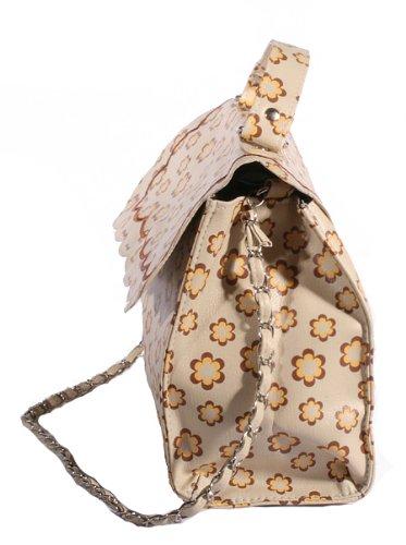 70s RETRO Flower BABUSCHKA rockabilly vintage Matroschka Blume Handtasche -