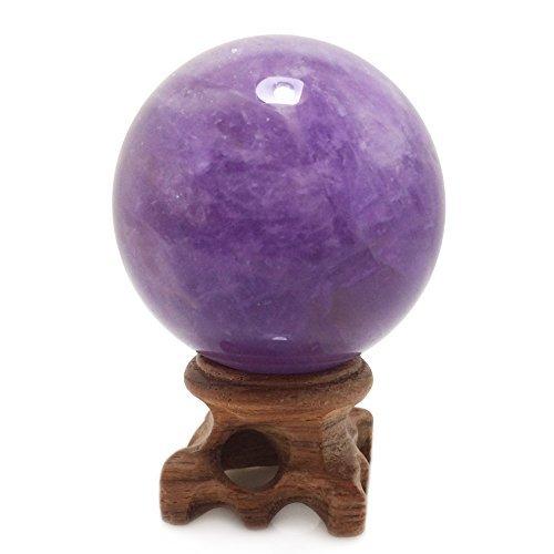 Sfera di quarzo rosa, rara pietra protettiva, per decorazione, guarigione, meditazione e feng shui, realizzata a mano, ametista, amethyst ball