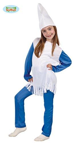 Kleine Blaue Zwergin - Kostüm für Mädchen Gr. 110 - 146, ()