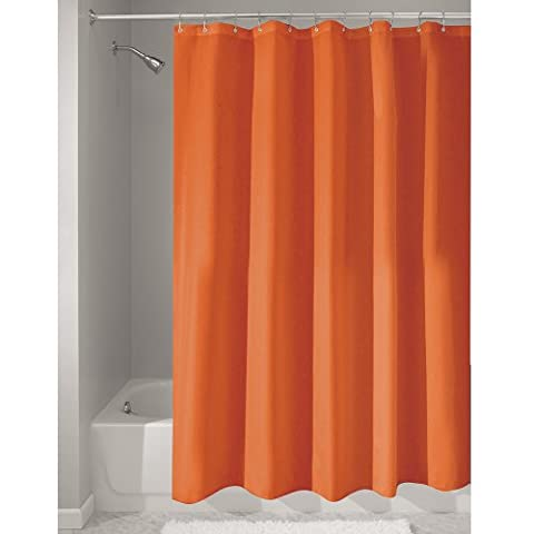 InterDesign Duschvorhang aus Stoff | wasserdichter Duschvorhang mit verstärktem Saum | waschbarer Textil Duschvorhang in der Größe 183,0 cm x 183,0 cm | Polyester