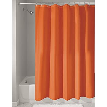 extra brown and red shower curtain. InterDesign Mildew Free Water Repellent Fabric Shower Curtain  183 x cm Orange Beautiful extra long and wide shower curtain 100