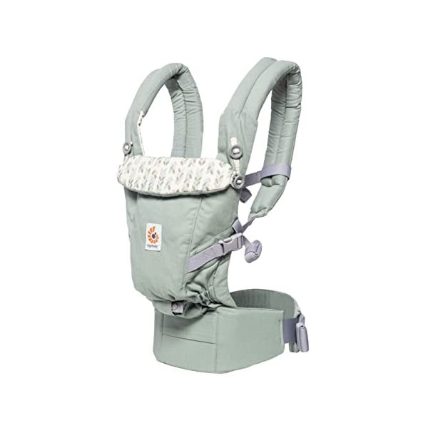 Ergobaby Baby Carrier Collection Adapt (3.2-20 kg), Sage Ergobaby 3 ergonomic wearing positions: on the front, on the back and on the hips Especially easy to use Suitable from birth (3.2 - 20kg) thanks to unique adjustment options 3
