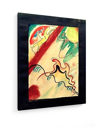 Kandinsky, Der blaue Reiter, Titelentwurf - 60x75 cm - Textil-Leinwandbild auf Keilrahmen - Wand-Bild - Kunst, Gemälde, Foto, Bild auf Leinwand - Alte Meister/Museum