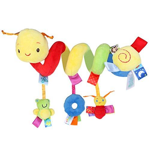 Pixnor Espiral actividades colgar juguetes del cochecito de bebé juguetes carro asiento...