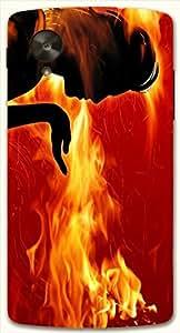 Attractive multicolor printed protective REBEL mobile back cover for LG Nexus 5 / Google Nexus 5 D.No.N-L-15941-NX5