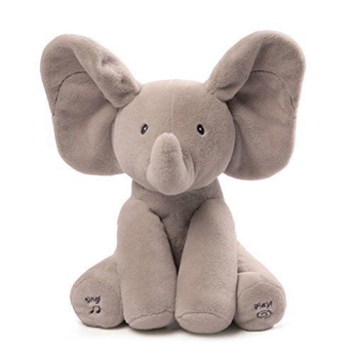 Baby Essentials baby soft toys UK Kid Animated Flappy Ear The Elephant Peek-a-boo Flap Liam Lena Sing Plush Toy
