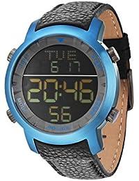 Police–Reloj de pulsera para hombre XL digital cuarzo piel pl.12898jsbl/02