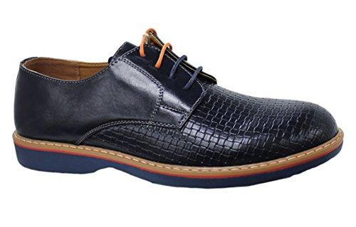 Scarpe casual uomo blu scuro inglesine sneakers man's shoes