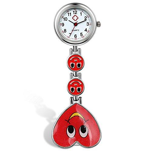 lancardo-orologio-dellinfermiera-medico-colore-della-caramella-sorriso-faccia-cuore-risvolto-tasca-f