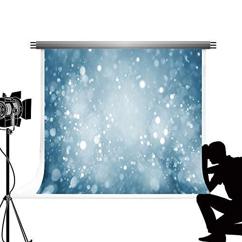 Kate abstrakte Farbverlauf Rampe Hintergrund blau Bokeh Halo Foto Hintergrund zusammenklappbare Hintergrund Requisiten für Porträt Fotografie Mikrofaser Waschbar Tuch 7x5ft / 2.2x1.5m (5x7 Hintergrund Zusammenklappbar)