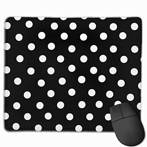White Dot with Black Non-Slip Rubber Mouse Mat Mouse Pad for Desktops, Computer, PC and Laptops 9.8 X 11.8 inch (25x30cm) - Geek Dot