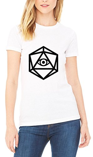 Illuminati Eye Dice Women's T-shirt Blanc