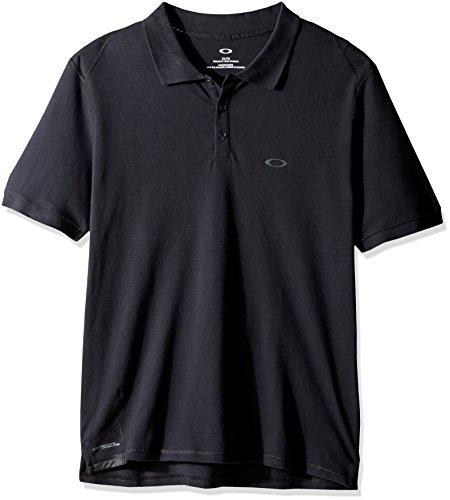 NEW 2017 Oakley Golf Dri-Release® Icon Polo SS Performance Mens Golf Polo Shirt Blackout Small (Oakley-golf-polo-shirt)