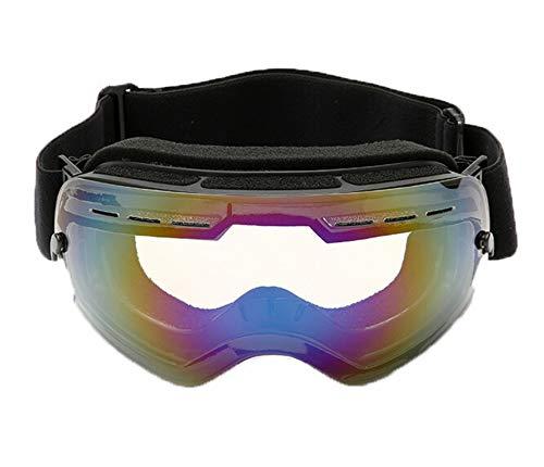 AmDxD TPU+PC Snowboardbrille Winddicht (Cocker Myopie Brille) Wintersport Brille Transparent