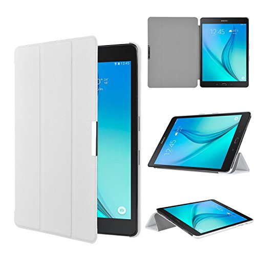 ELTD Samsung Galaxy Tab S3 9.7 custodia cover, [Slim Series] Custodia Cover in pelle PU per Samsung Galaxy Tab S3 9.7 , Bianco