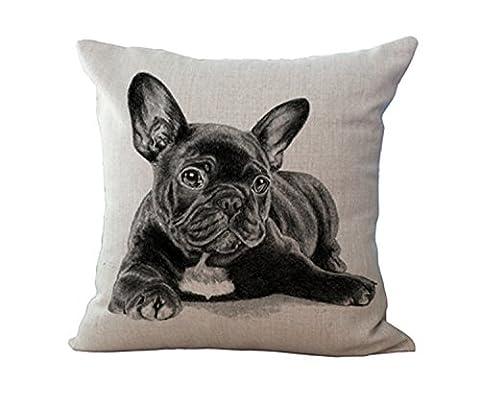 3D mignon Bulldog Français pas style décontracté bébé Couvre-lit décoratif