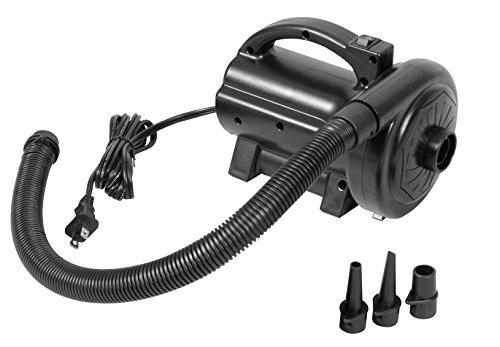 Jilong 230V Hochdruck Elektro Luftpumpe elektrische 82 mbar Luft-Kompressor mit 3 Adapter Luftdüsen Aufsätze für aufbalsbare Artikel wie Luftmatratze Luftbett Pool etc