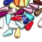 50Pcs 10.5x6x6mm Acrylic Assorted Teardrop Beads Jewelry DIY Making Findings Fit Bracelet Necklace AR0402