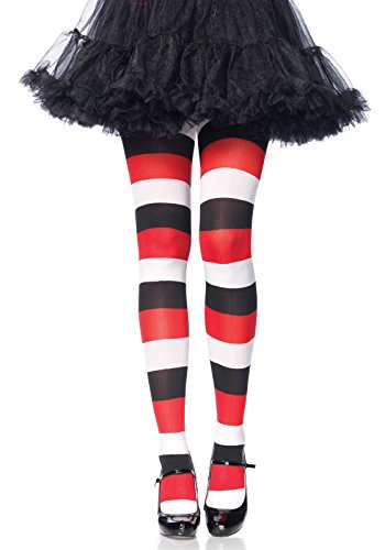 Leg Avenue 7948eine Größe 6bis 12Multicolor Darling Puppe blickdicht gestreifte Strumpfhose mit eingewebten Streifen und elastischer Bund (Avenue Leg Strumpfhose Gestreifte)