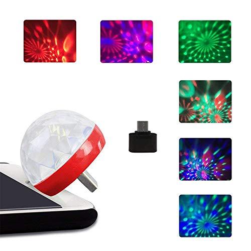 Bescita USB Stab Tragbare Magischer Lampe ┃ NEU ┃ Wizzard ┃ Mitgebsel ┃ Kindergeburtstag ┃ Fasching ┃ Licht & KTV Weihnachten Magische Telefon Ball Lampe (Rot)