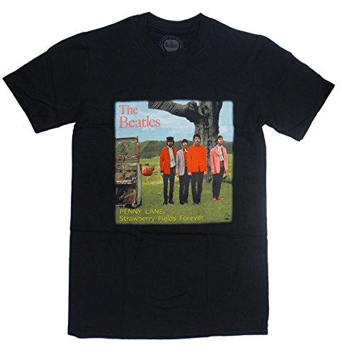 The Beatles Official Merchandise Unisex T-Shirt New Strawberry Fields schwarz... -