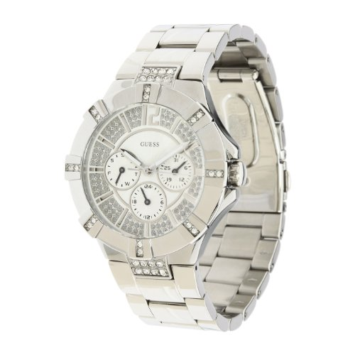 Guess Unisex U12601L1 Silver Stainless-Steel Quartz Watch with Silver Dial