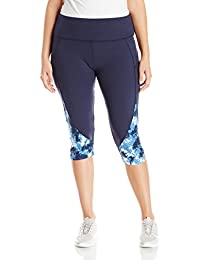 20899a7805d Marika Women s Plus Size Pieced High Rise Capri Legging