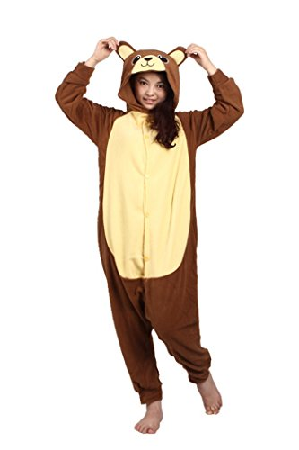 wotogold Pigiama di Orso Animale Costumi Cosplay per Adulti Unisex Brown