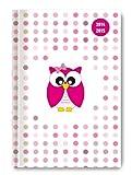 Collegetimer Pocket Pink Owl 2014/2015 - Schülerkalender A6 - Day By Day - 352 Seiten