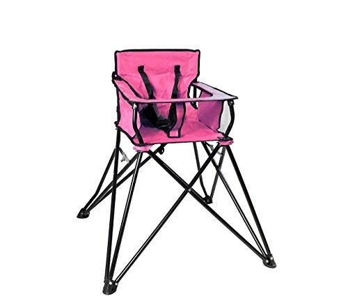 Mediawave store seggiolone da campeggio 321546 richiudibile onshore con sacca trasporto rosa