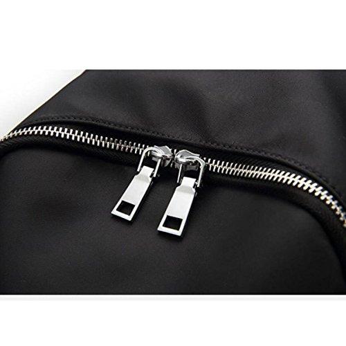 Women's Simple Oxford Tuch Schultertasche Wasserdichte Reise Freizeittasche Black