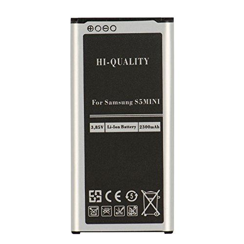 PLT24 Ersatzakku für Samsung Galaxy S5 mini SM-G800F ersetzt EG-BG8000BBE Handy Akku Li-Ion 2300 mAh Batterie Battery Handyakku Accu ( Akku S5 mini )