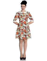Mini vestido de Hell Bunny Autumn 60s en estilo Retro otoñal con calabaza y cerezas