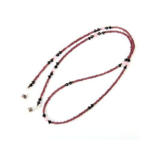 LEORX Supporto collo di perline catena occhiali da sole stile bohemien occhiali catena (viola)