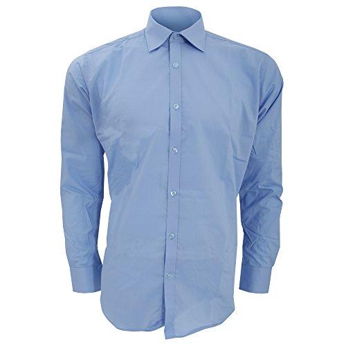 Kustom Kit Herren Hemd / Business-Hemd, langärmlig Weiß