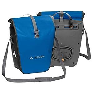 VAUDE Aqua Back – Juego de 2 bolsas para bici adaptables a la carga e impermeables, Azul, Talla única
