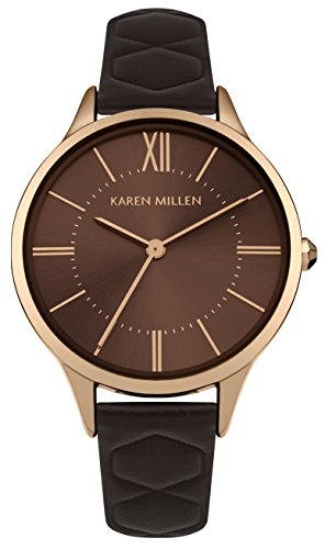 Karen Millen Womens Analogue Classic Quartz Watch with Leather Strap KM170T